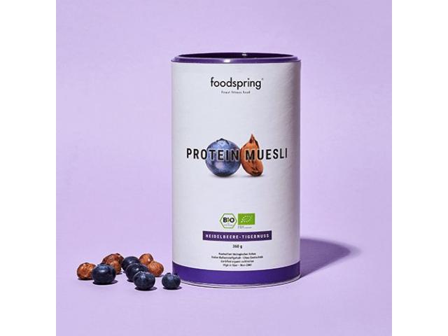 protein muesli blueberry Foodspring