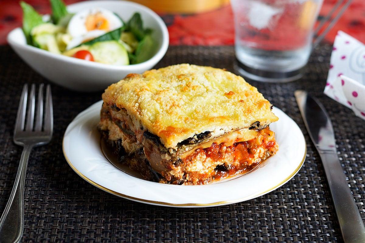 Lasagnes légère aubergine et thon