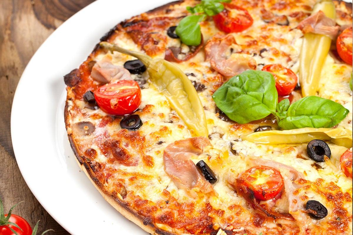 Pizza pâte choux fleur