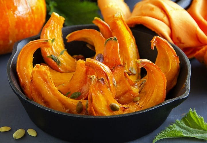 Potimarron rôti diététique