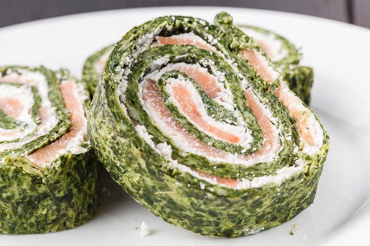 Roulé épinard saumon et saint moret